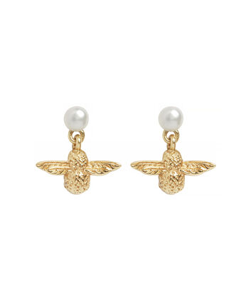 OLIVIA BURTON LONDON Pearl Bee EarringsOBJ16AME41 – Pearl Bee Stud Earrings - Front view